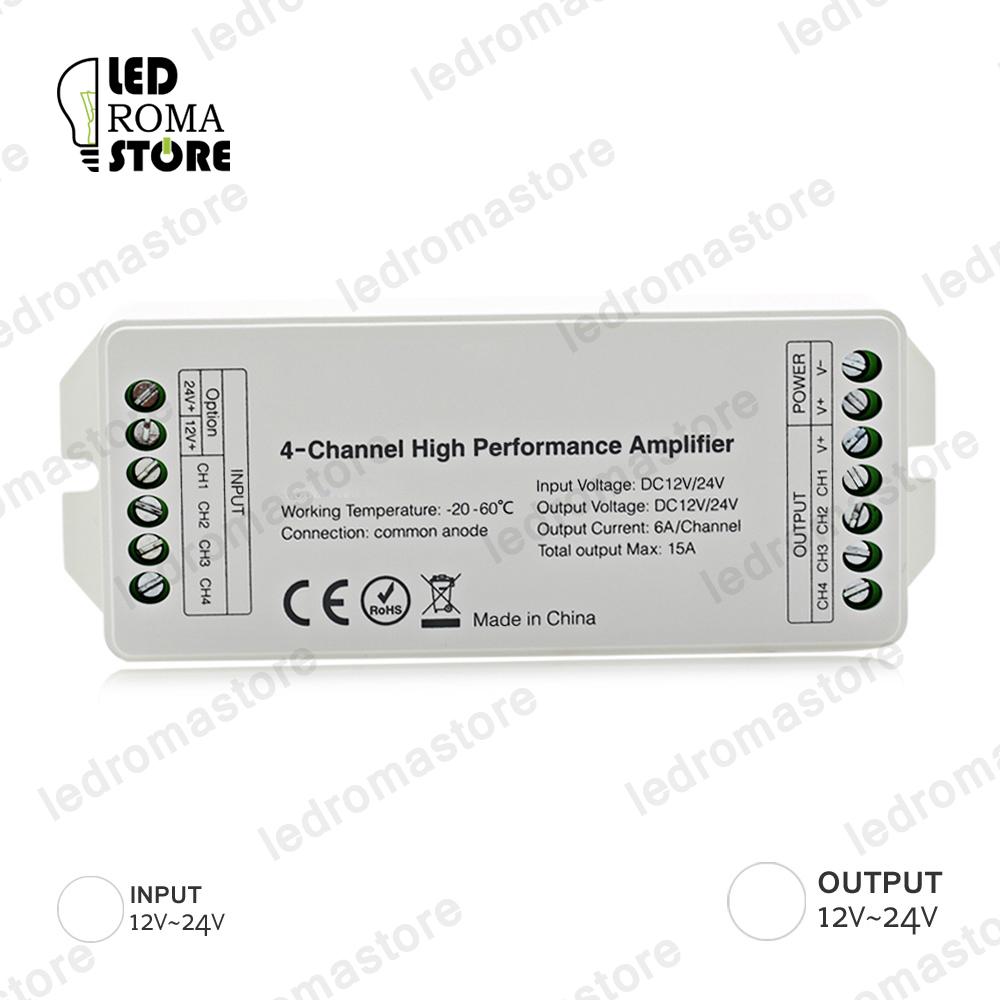 Amplificatore di segnale 2.4GHz per striscia LED