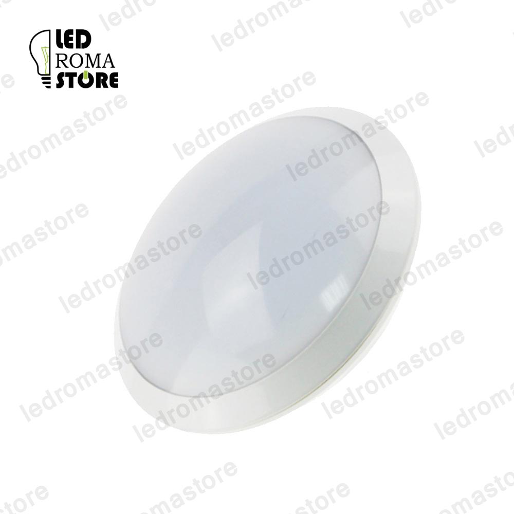 Plafoniera LED da soffitto bianca rotonda impermeabile